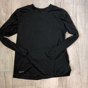 NIKE Mens Dri-fit dark gray long sleeve shirt Sz M